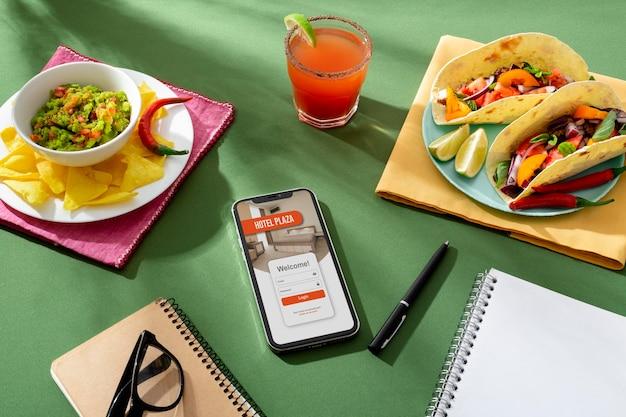 Traditionelles mexikanisches essen am welttourismustag