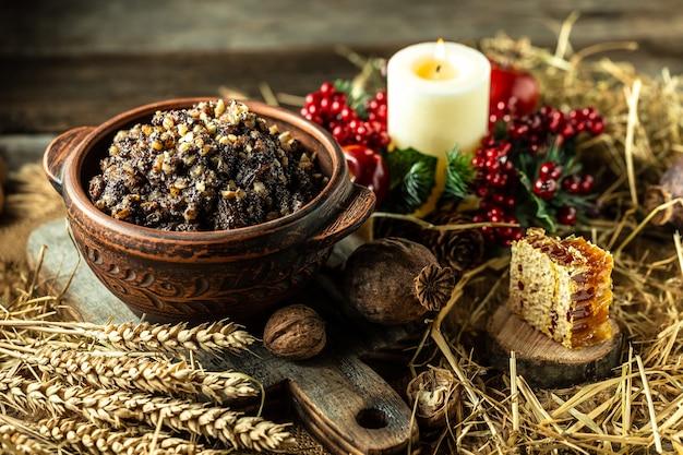 Traditionelles slawisches weihnachtsgericht kutia