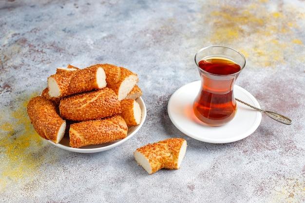 Traditionelles türkisches frühstück.