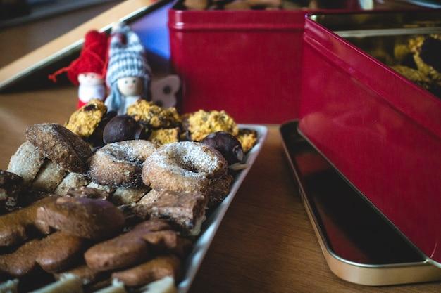 Traditionelles weihnachten gebackene süßigkeiten