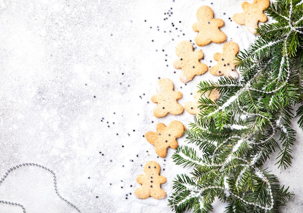 Traditionelles weihnachtsbacken. konzept des neuen jahres
