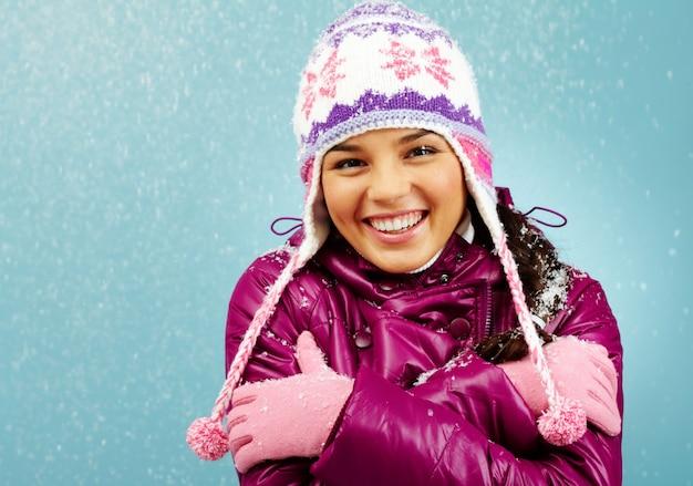 Tragen freeze verschneit jugend erwachsen