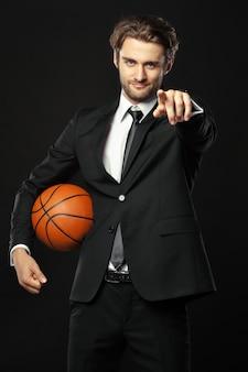 Trainer, geschäft, sport auf schwarzem