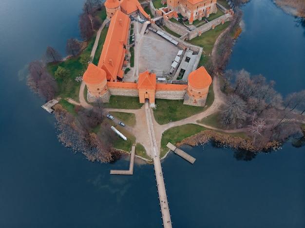 Trakai-schlossvogelperspektive, litauen