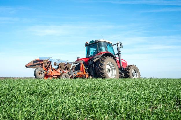 Traktor-kultivierungsfeld