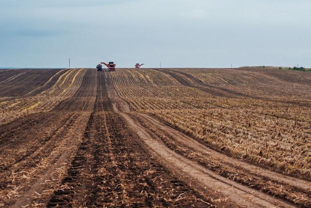 Traktoren arbeiten im feld