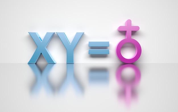Transgender-konzept männlich gleich weiblich