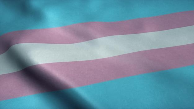 Transgender stolz community flagge