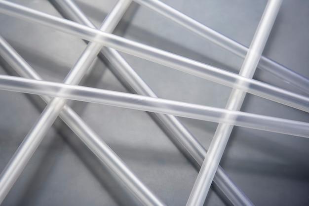 Transparente kunststoffrohre für verschiedene branchen