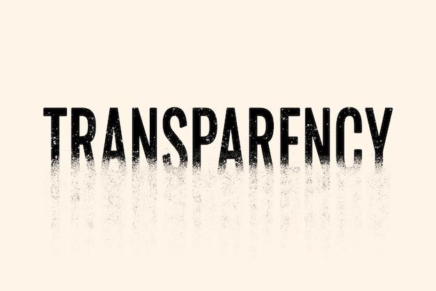 Transparenztypografie in streuschrift