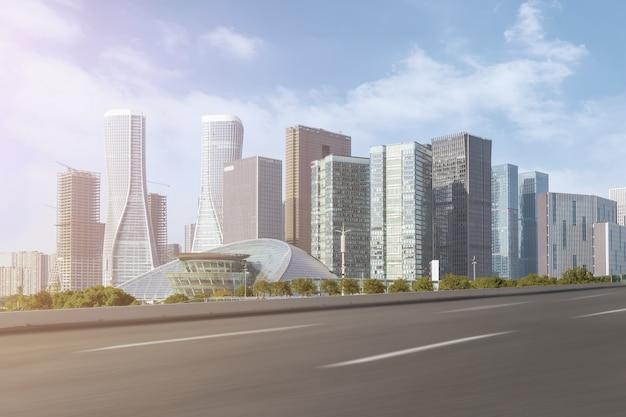 Transport futuristische panorama skyline struktur