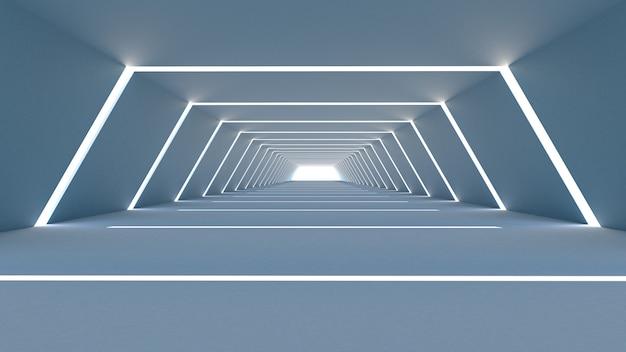 Trapezfuturistischer tunnel und tor