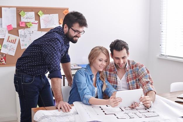 Treffen junger, aber kreativer architekten