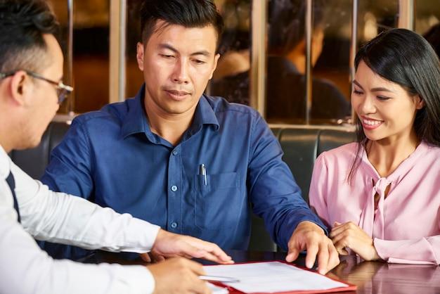 Treffen mit dem finanzberater