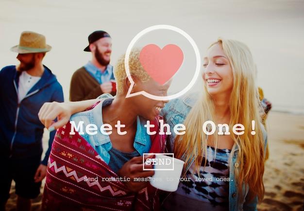 Treffen sie das one online matchmaking sign up konzept