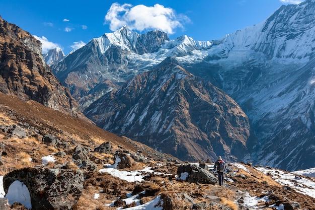 Trekking im nepalesischen himalaya