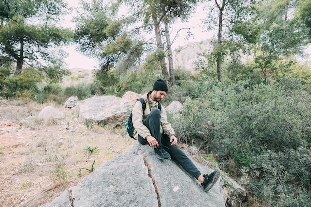 Trekking in den bergen