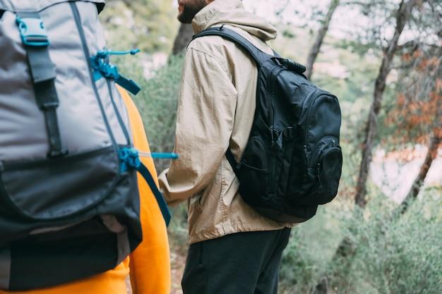 Trekking in der natur