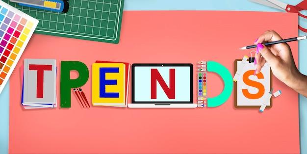 Trends design modernes trendiges modekonzept