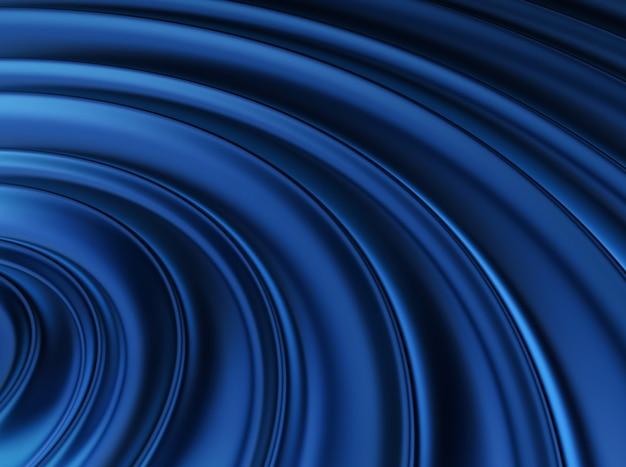 Trendy blau glänzender metallischer hintergrund mit wellen