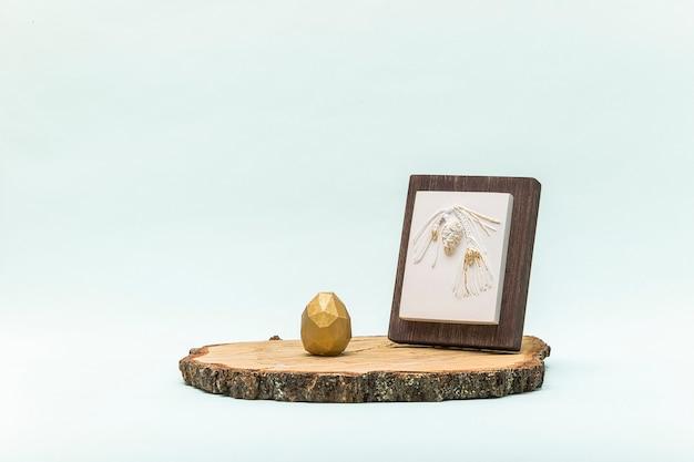 Trendy ostern lowpoly dekor für design. botanisch