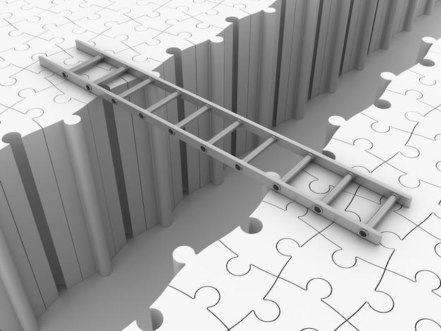 Treppe auf puzzle bridge