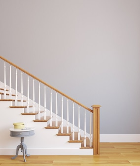 Treppe im modernen haus. 3d rendern.