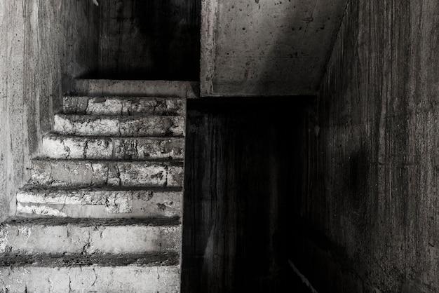 Treppe im verlassenen gebäude geist wohnort