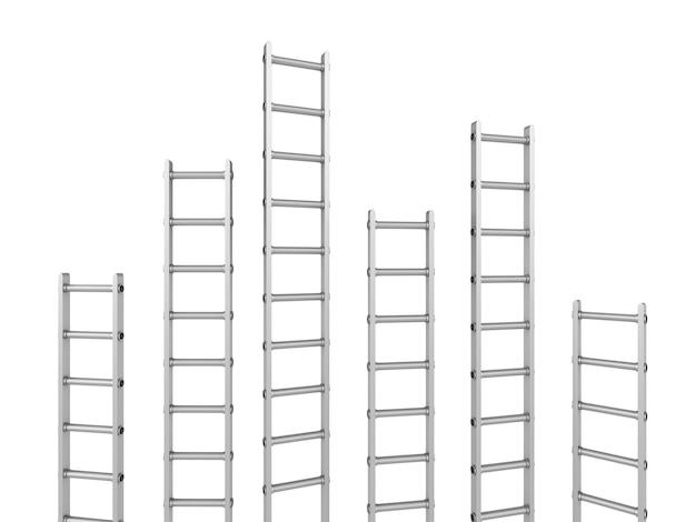 Treppenlinie auf weiß
