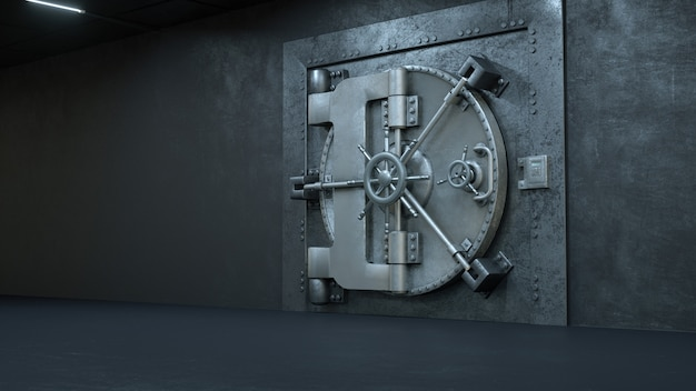 Tresortür in der bank