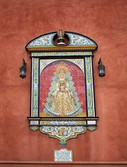 Triana barrio von sevilla fassaden andalusien spanien