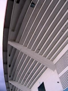 Tribüne von unten