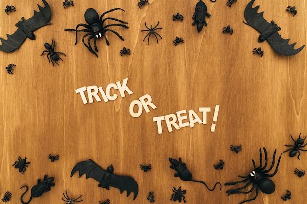 Trick oder behandeln halloween-komposition