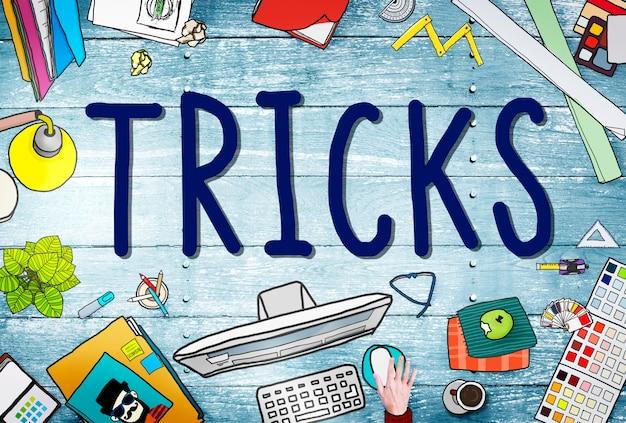 Trick treat risiko verstecken spieler magic halloween konzept