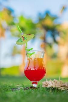 Trinken sie im urlaub einen cocktail
