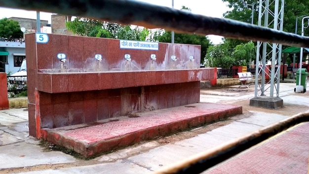 Trinkwasserhahn am bahnhof