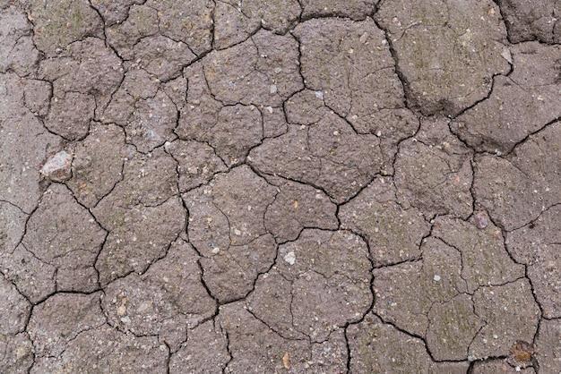 Trockene bodentextur auf dem bodenhintergrund