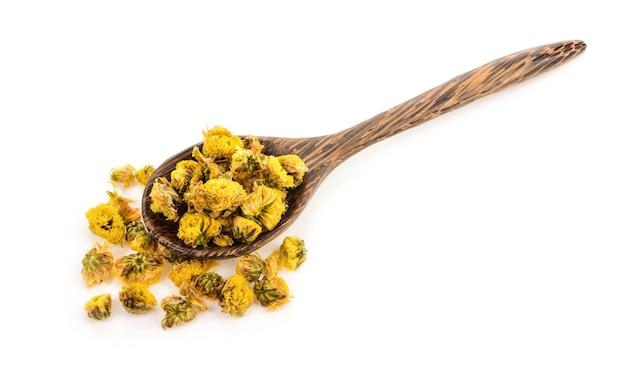 Trockene chrysantheme im wehlöffel