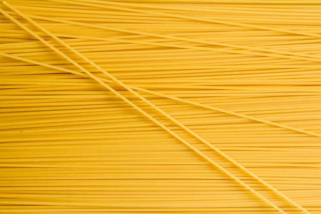 Trockene nudelspaghetti. draufsicht
