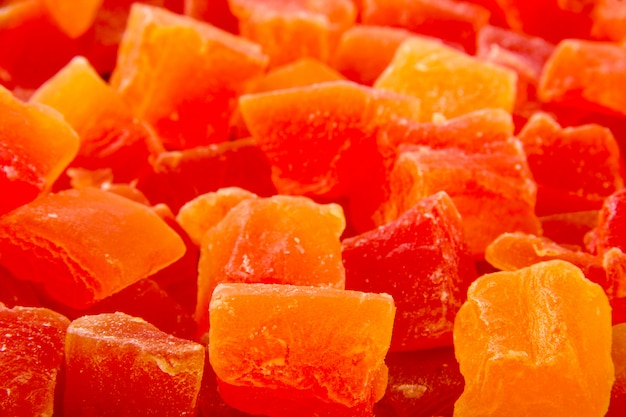 Trockene papaya in der schüssel