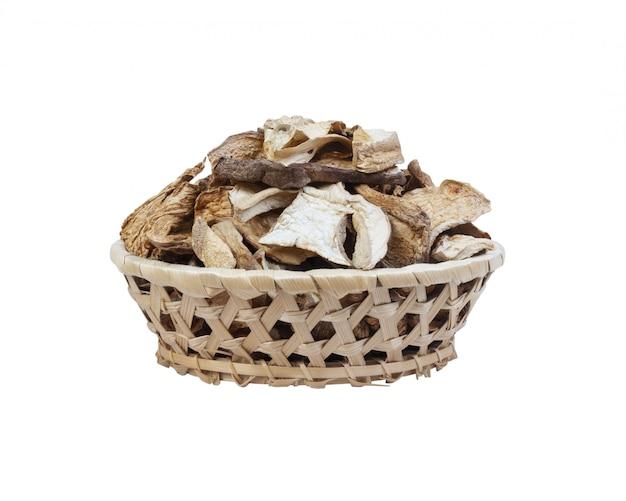 Trockene pilze isoliert