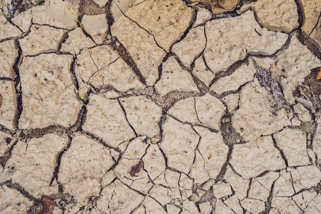 Trockene rissige erde. die wüste.