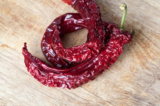 Trockene rote paprika