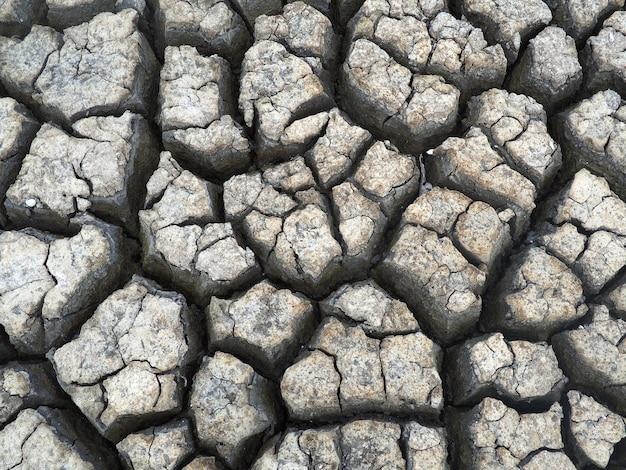 Trockener gebrochener erdehintergrund