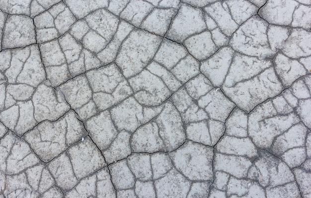 Trockener rissiger erdtexturhintergrund. lande auf einem getrockneten see.