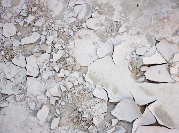 Trockener und gebrochener erdhintergrund