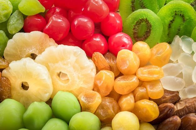 Trockenfrüchte und nahrungsmittelerhaltung dehydriert, konservierte trockene früchte für das essen gesund