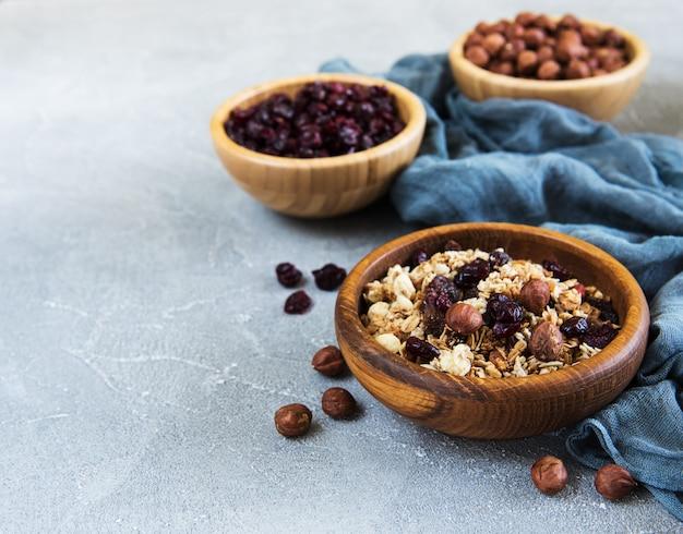 Trockenfrüchte und nüsse