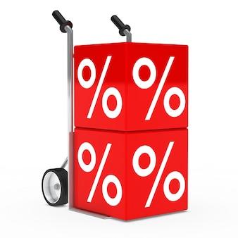 Trolley mit zwei roten würfel