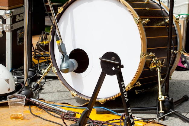 Trommel und mikrofon